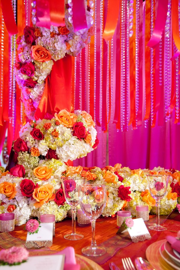 Mehndi Party Games : Bright colorful mehndi flowers styled shoot the big