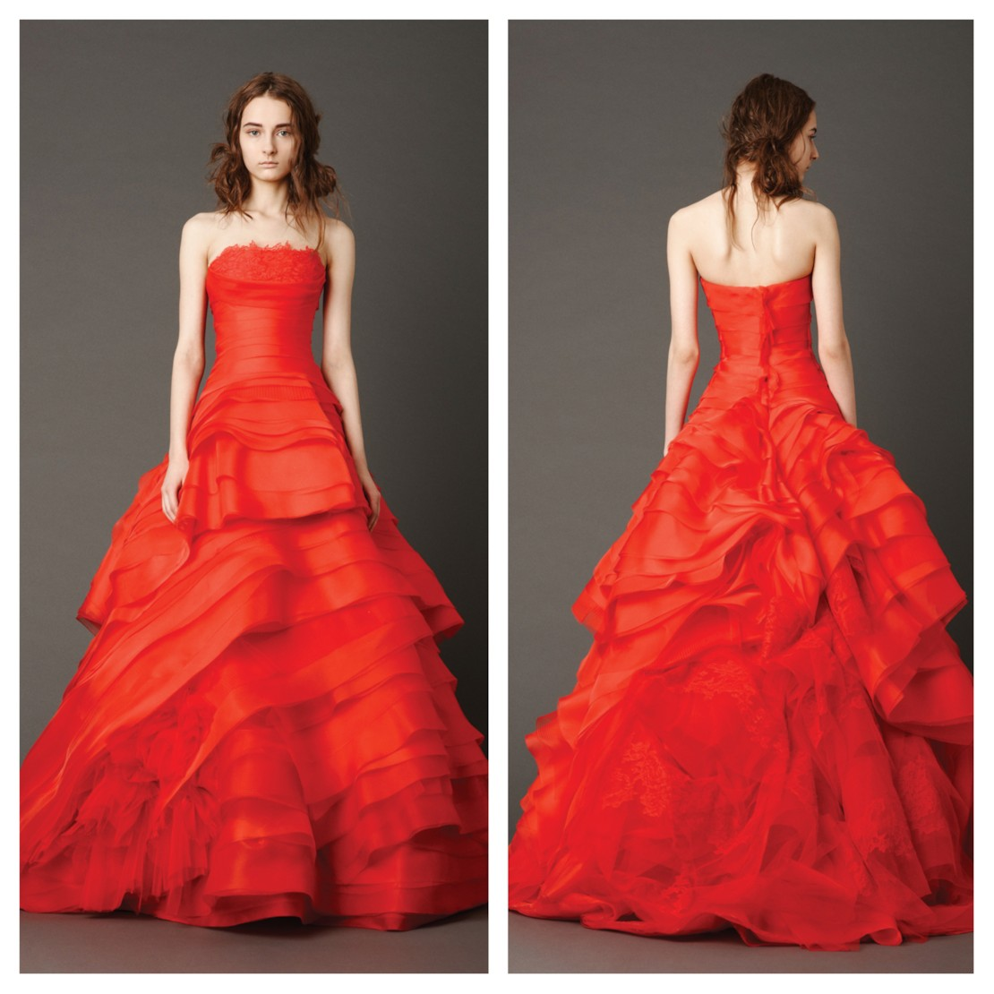 36aa5fd61f410 Bridal designer and expert Vera Wang has created the spring 2013 wedding  line with red ...