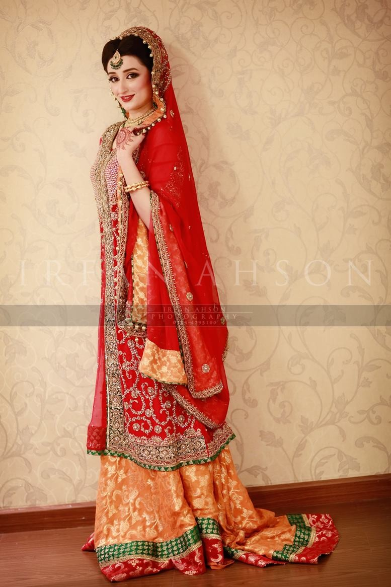 Pakistani red bridal dresses 2014