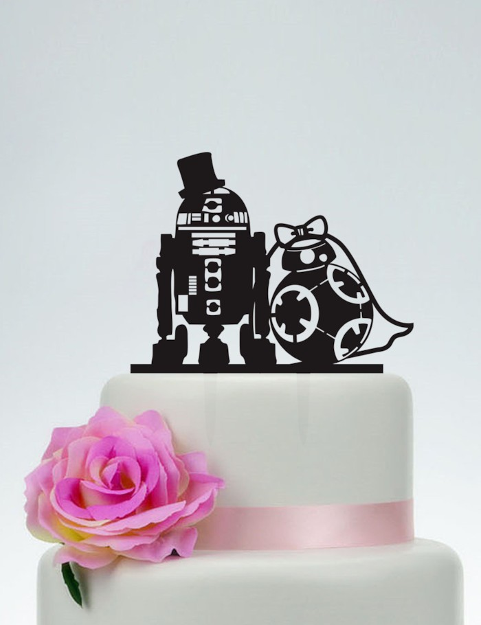 15 adorable wedding cake toppers you need to see the big fat star wars wedding cake topper this is a winner all the way no question about it r2d2 and bb8 cake topper may the force be with you junglespirit Images