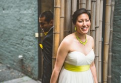 Quirky Pop of Color Fusion Wedding at Floating World Gallery