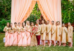 Classic Red Indian & White Dress Fusion Wedding {Florida}
