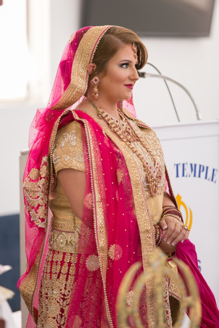 Modern Pink Fall Sikh Wedding Texas The Big Fat Indian