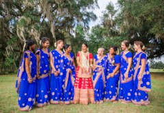 Bright & Airy Indian Vedic Wedding at ISKCON Alachua Temple {Florida}