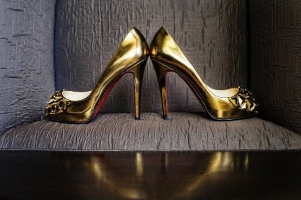 12 Gorgeous Gold Wedding Shoes from Louboutin