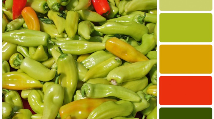 Green Hot Chili Peppers {Color Palette Monday}
