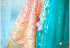 Peach & Teal Brahmin Punjabi Wedding {Amritsar}
