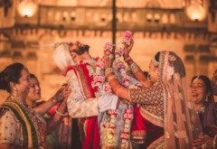 Sabyasachi Bride & a Gujarati Wedding at the Laxmi Villas Palace