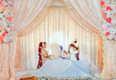 Peach & Pink Sikh Wedding at Viaggio Winery {California}