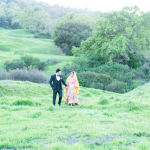 Couple's Sunset Photo Shoot in the San Jose Hills {California}